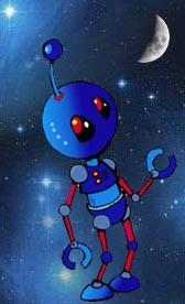 Robot & moon