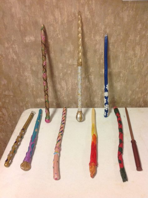 Wands on display at Aug 28th meeting.