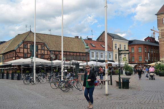 Afbeelding het kleine plein in Malmö