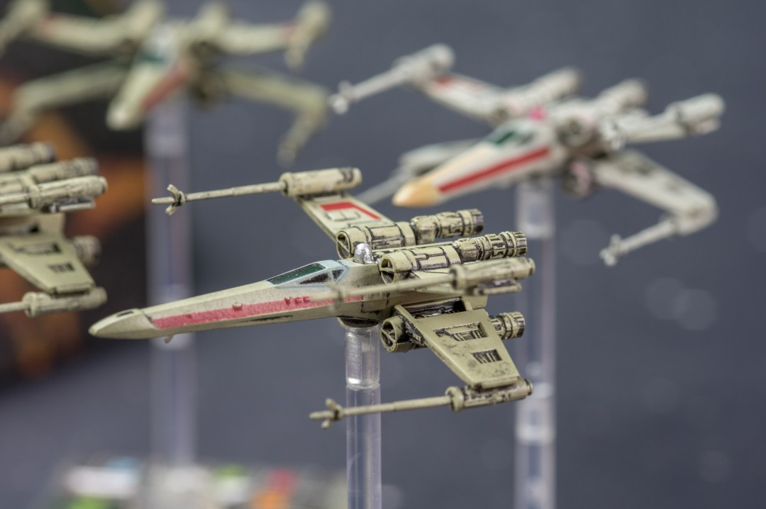 Escadrille de X-Wing - Vue de côté