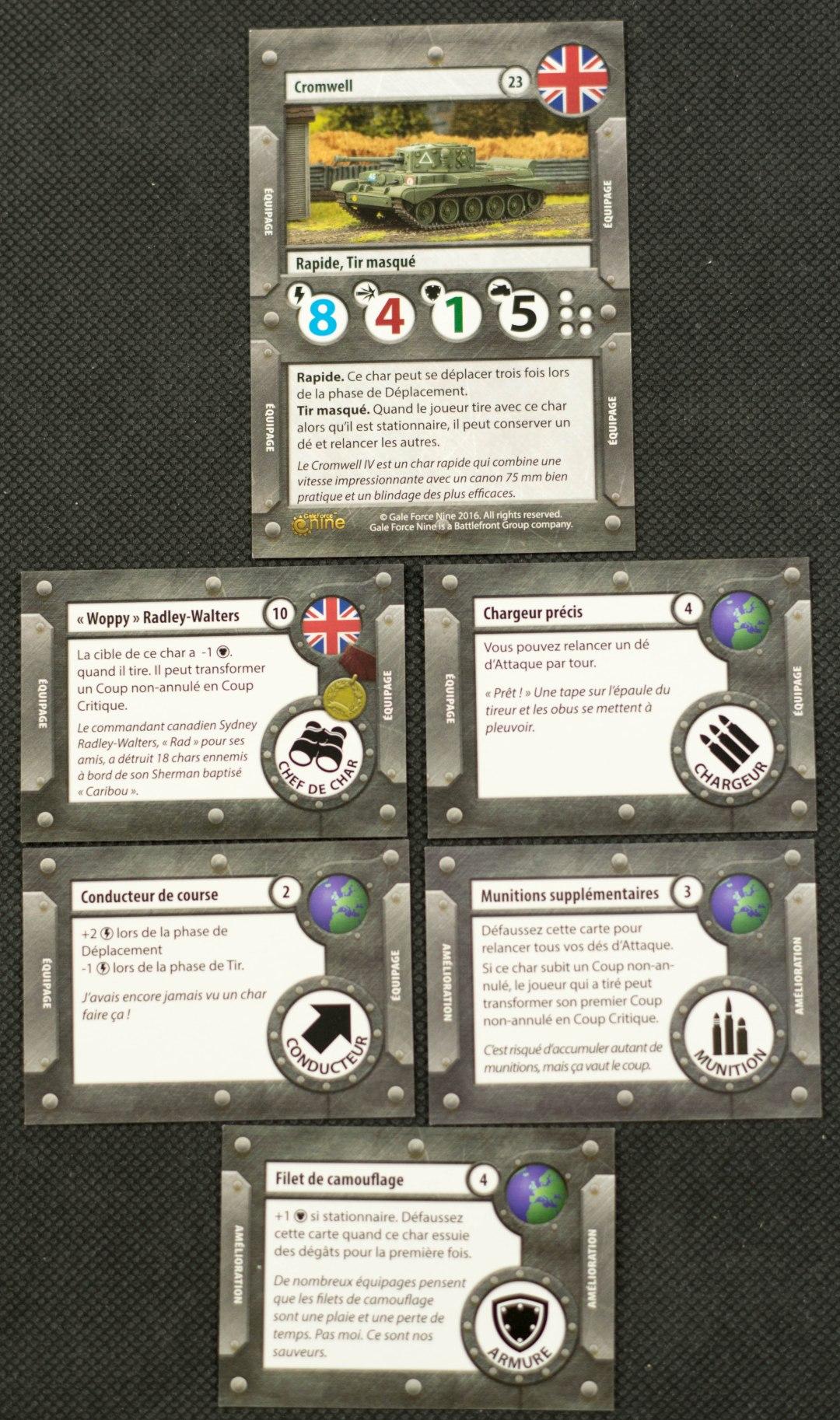 Tanks - Cartes du Cromwell