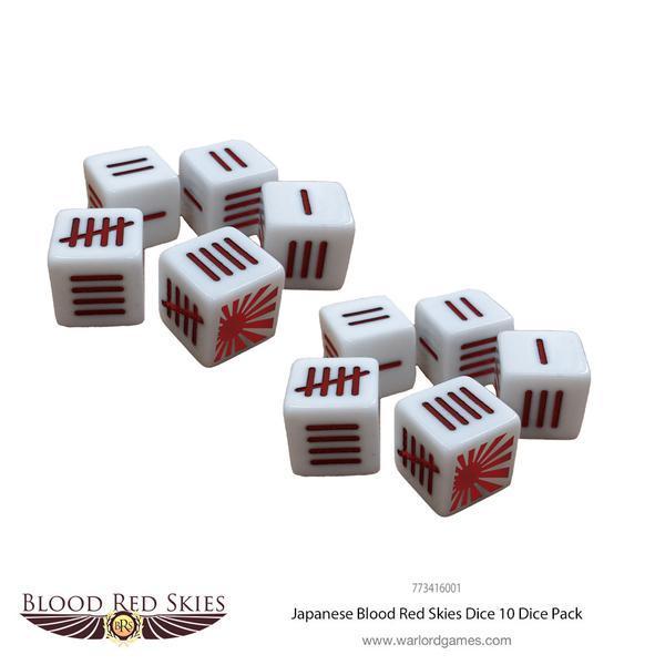 Japanese Blood Red Skies Dice