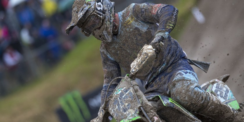 Clement Desalle in action at MXGP Mantova, Italy