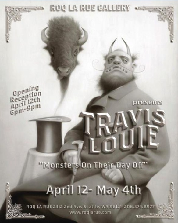 """Preview – Travis Louie """"Monsters On Their Day Off"""" @ Roq La"""