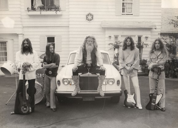 Ya Ho Wa 13: Sunflower, Octavius, YaHoWha, Pythias, and Djin. Los Angeles, 1973 Photo courtesy Isis Aquarian archives