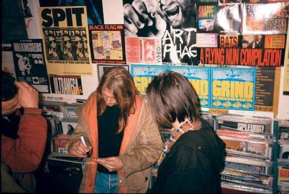 Kurt signing autographs at Rough Trade