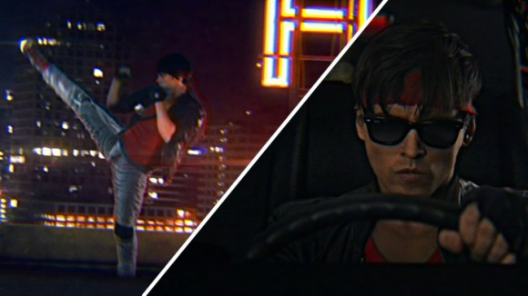 kung fury in car