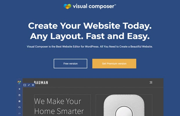 Visual Composer Best Drag and Drop Website Builder fr WordPress