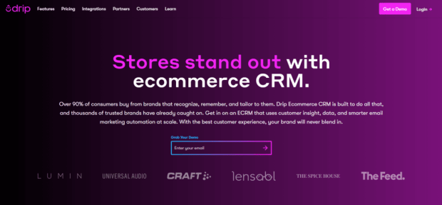 Drip-best-ecommerce-crm-for-small-business