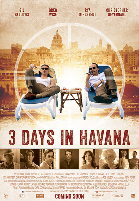Jack Petty finds himself in an assassination conspiracy in the crime comedy Three Days in Havana. @Photo provided by D Films.