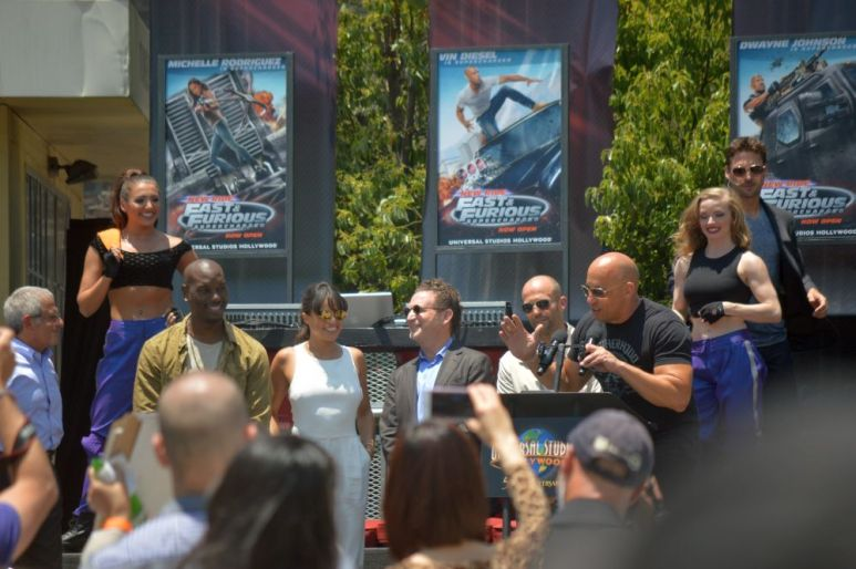 Vin Diesel speaking
