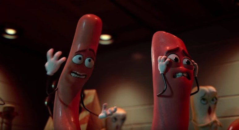 The sausages moments after finding out the fate of some of their other food-stuffs