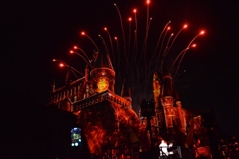Fireworks at The Wizarding World of Harry Potter