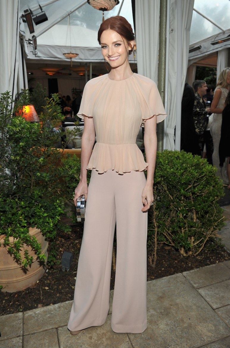 LOS ANGELES, CA - JUNE 14: Actress Lydia Hearst, wearing Max Mara, attends Max Mara Celebrates Natalie Dormer - The 2016 Women In Film Max Mara Face Of The Future at Chateau Marmont on June 14, 2016 in Los Angeles, California. (Photo by Donato Sardella/Getty Images for Max Mara)