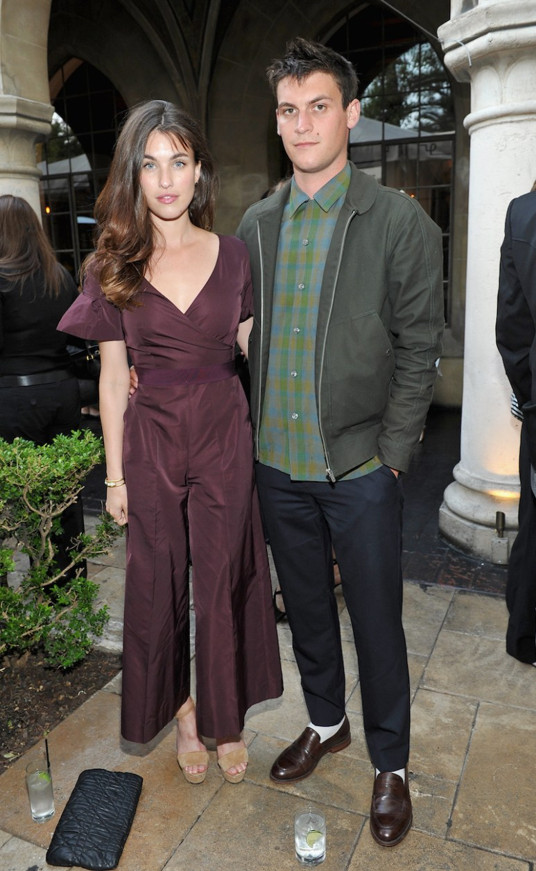 LOS ANGELES, CA - JUNE 14: Actress Rainey Qualley, wearing Max Mara (L) and Miles Garber attend Max Mara Celebrates Natalie Dormer - The 2016 Women In Film Max Mara Face Of The Future at Chateau Marmont on June 14, 2016 in Los Angeles, California. (Photo by Donato Sardella/Getty Images for Max Mara)