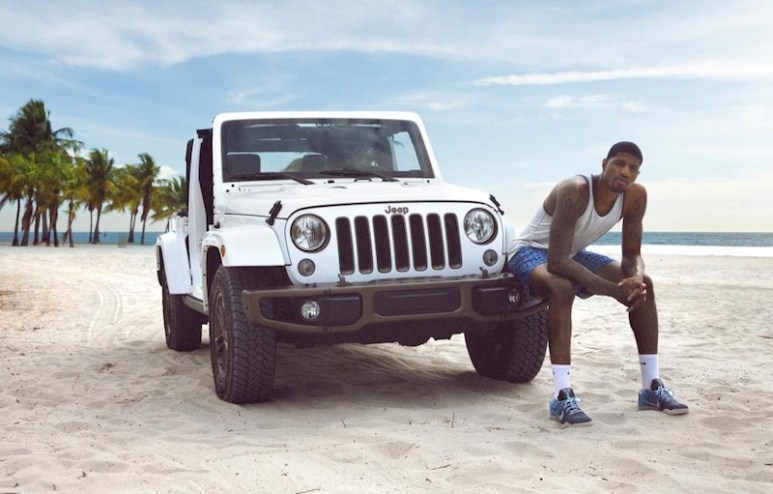 Paul George in the new advertising campaign for Jeep