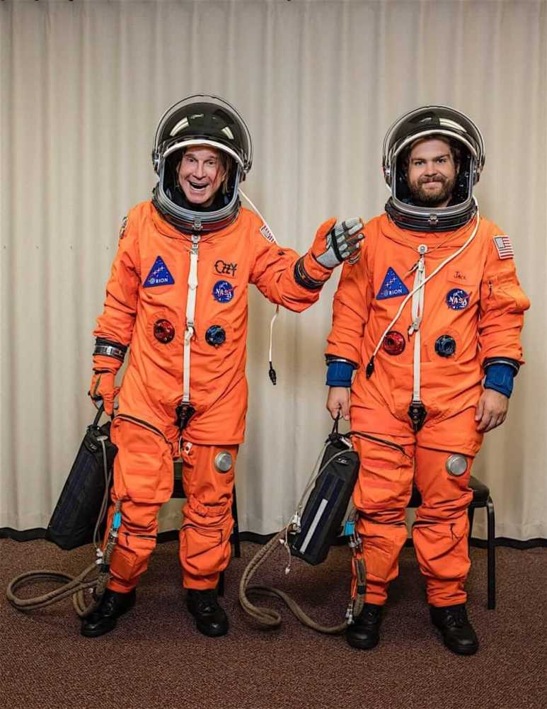 Jack and Ozzy Osbourne in spacesuits