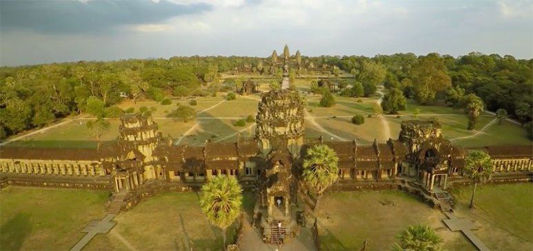 Was the construction of Angkor Wat guided by alien knowledge?