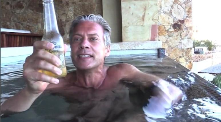David Beador naked in a plunge pool on The Real Housewives of Orange County