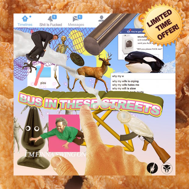 The cover art for Thundercat's Bus In The Streets