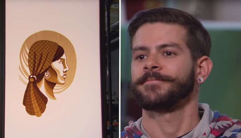 Gian and his incredible art made from packing tape on this week's Ink Master
