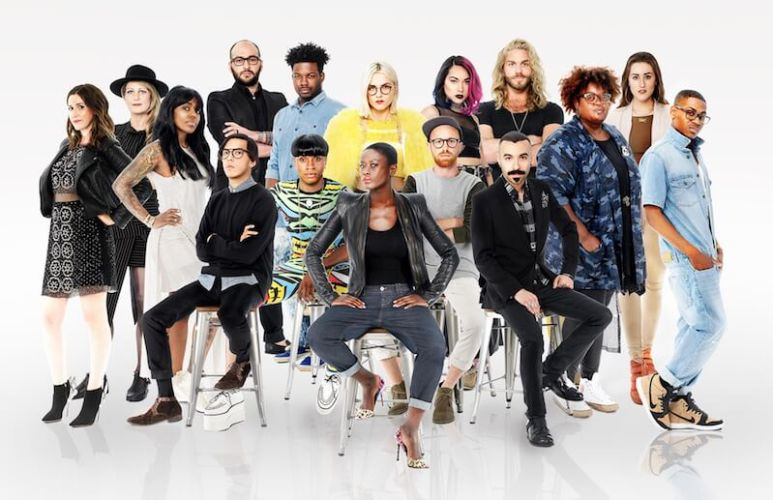 The cast of designers competing in Season 15 of Project Runway on Lifetime