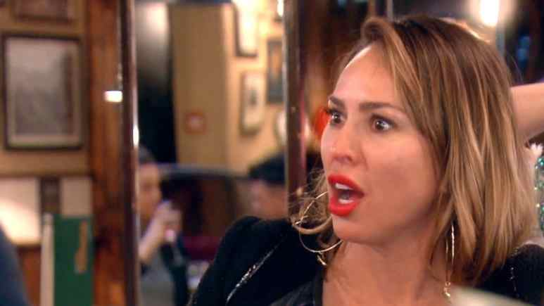 Kelly Dodd during her argument with Tamra Judge on this week's The Real Housewives of Orange County