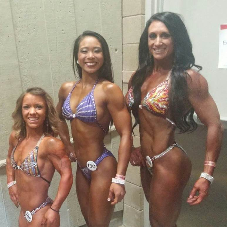 Amanda with other competitors taking part in a contest in 2015. Pic: Instagram