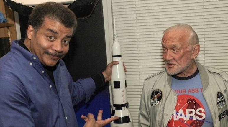 Buzz Aldrin with Neil deGrasse Tyson on StarTalk