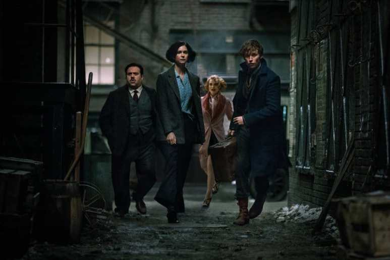 Dan Fogler, Alison Sudol, Eddie Redmayne, and Katherine Waterston in Fantastic Beasts and Where to Find Them