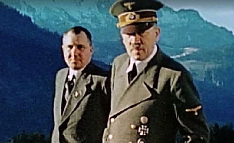 Martin Bormann and Adolf Hitler