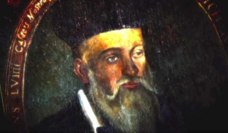 Nostradamus in a still from History's Nostradamus: Election 2016 documentary