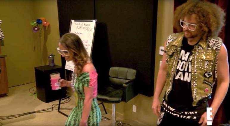 Redfoo and Victoria party with Travis Kelceat Redfoo's mansion on Catching Kelce