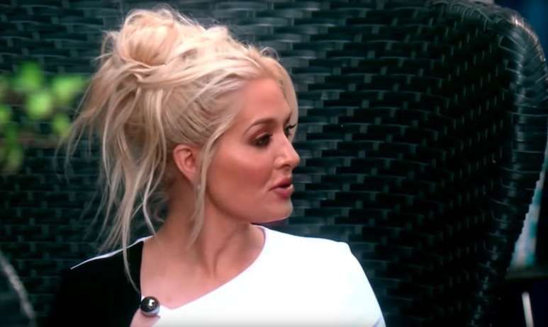 Erika Girardi as she reveals she isn't wearing panties on The Real Housewives of Beverly Hills