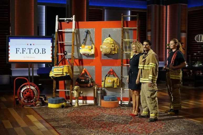 Firefighter Turnout Bags' Niki and Matt Rasor appearing on Shark Tank