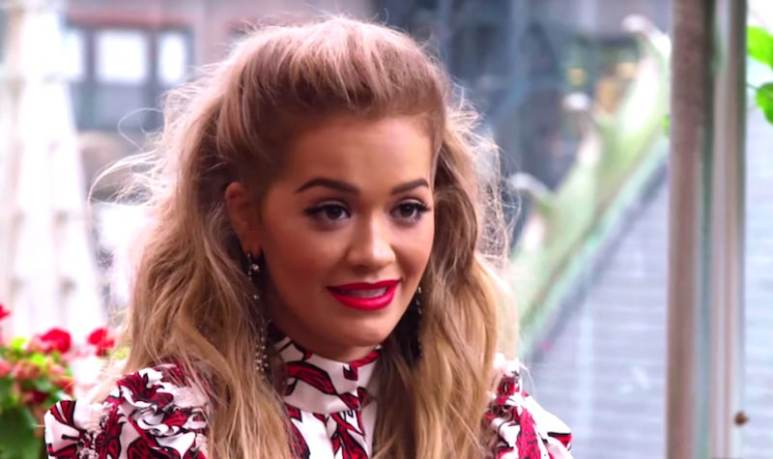 Rita Ora talks to the remaining contestants about paparazzi on America's Next Top Model
