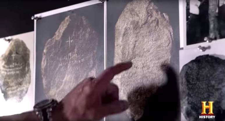 The inscriptions are analyzed by Jim and Bill Vieira on the show