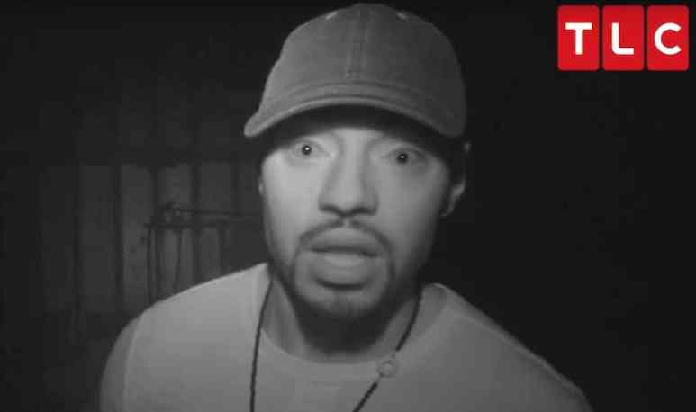 Jawan Mass talks to the camera from inside the haunted Long Leaf Sawmill in Louisiana