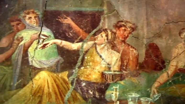 Baiae was a city where Romans could play out their hedonistic fantasies. Pic: PBS