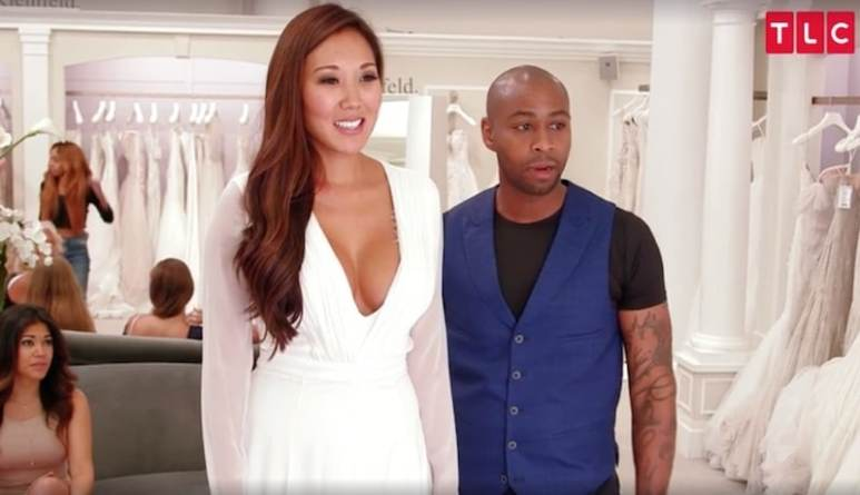 Shay with pregnant bride-to-be Katie on this week's episode of Say Yes To The Dress
