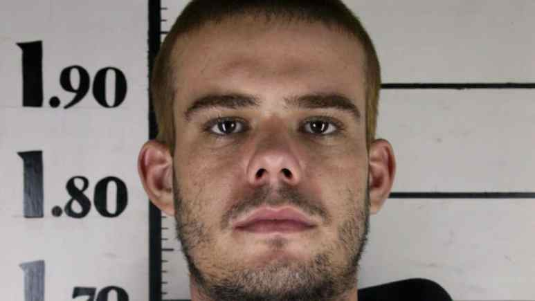 Joran van der Sloot mug shot when he was arrested for the murder of a woman in Peru
