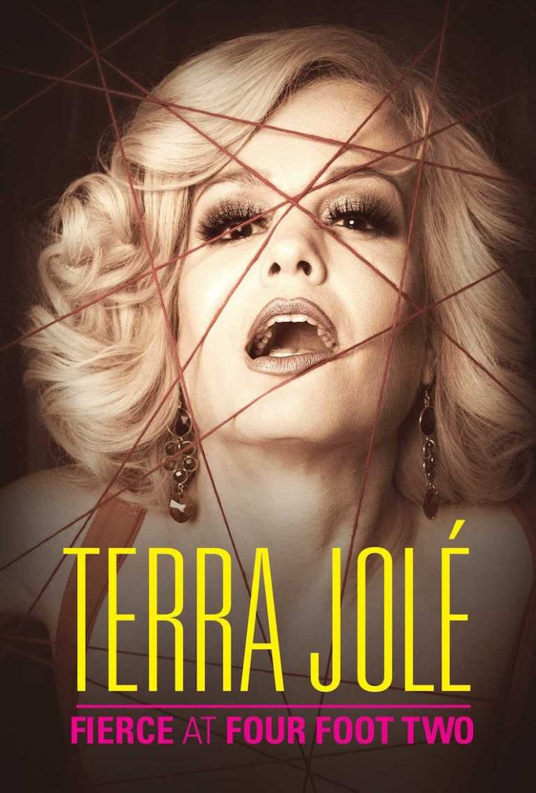The cover of Terra Jole's book, showing her face and the words 'Terra Jole: Fierce at Four Foot Two'