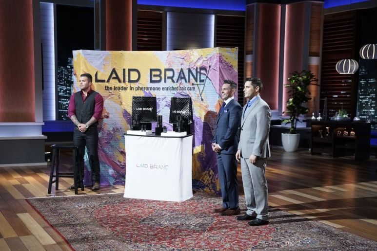 Adam Rauch and Derek Shaw from Laid Brand during their pitch on Shark Tank
