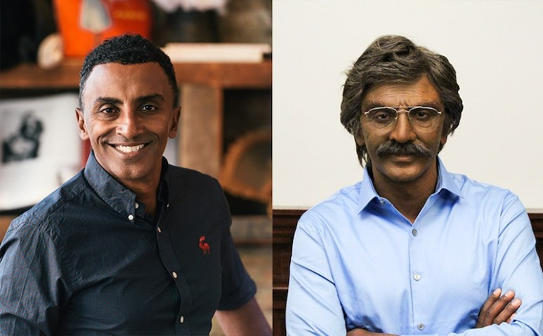 Marcus Samuelsson before and after his transformation on Undercover Boss
