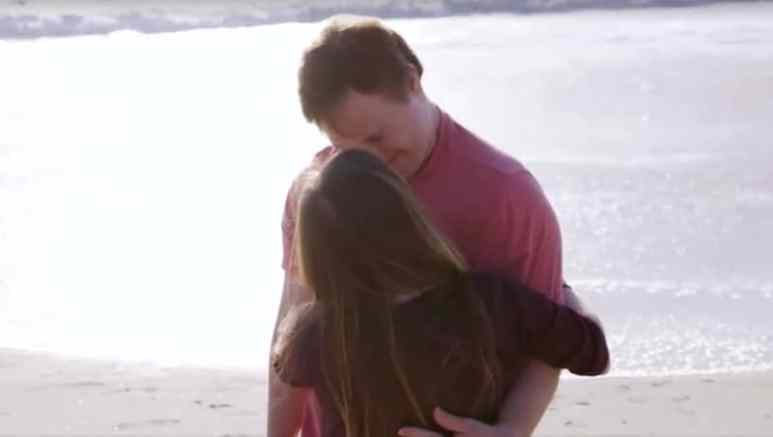 Born This Way's Steven and Megan embracing on a beach