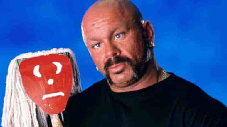 Perry Saturn with his mop friend