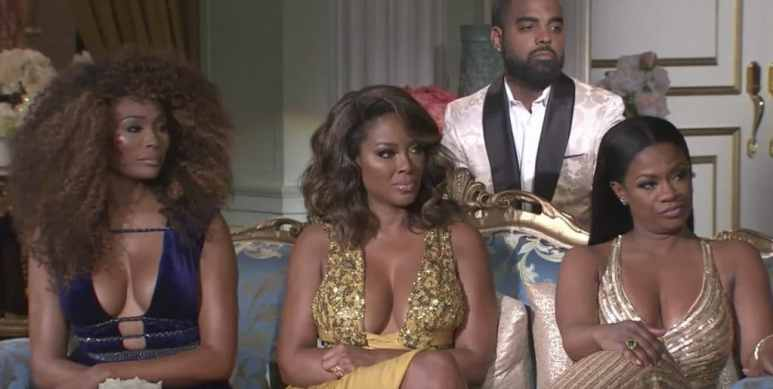 The ladies look unimpressed with Phaedra's explanations on RHOA