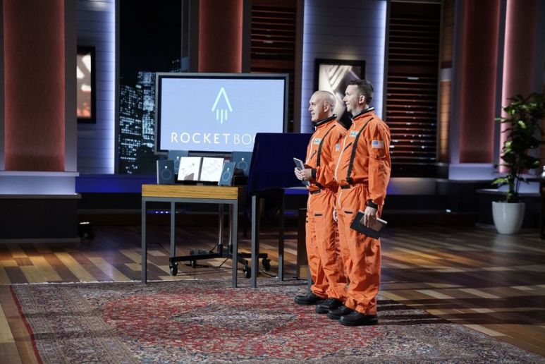 Jake Epstein and Joe Lemay of Rocketbook during their pitch on Shark Tank