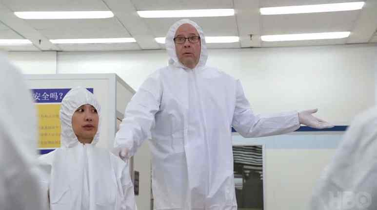 Stephen Tobolowsky as Jack Barker in a white suit on Silicon Valley