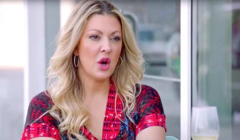 Close-up of Katie Cazorla talking on Second Wives Club